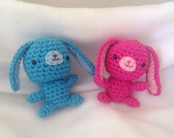 Crochet bunnies, toy bunnies, Brother and Sister Bunny
