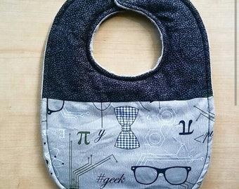 Bow Tie Glasses theme Baby bib -Modern Baby bib