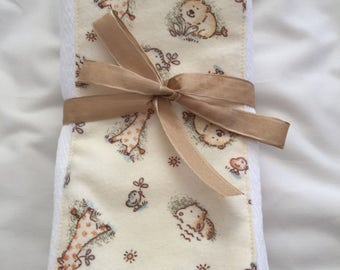 Giraffe Burp Cloths