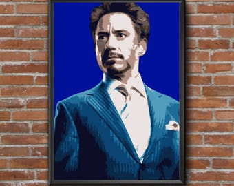 Framed Picture Tony Stark - A4 - 21 x30 cm Vector Illustration