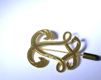 Gold Vintage Hat Pin