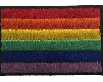 Rainbow Design Pride Embroidered Iron On Patch