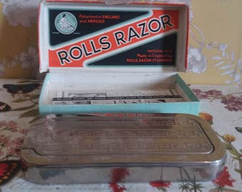 Mid century 1950's vintage rolls razor imperial No 2 model in original box, vintage shaving, father's day gift, razor