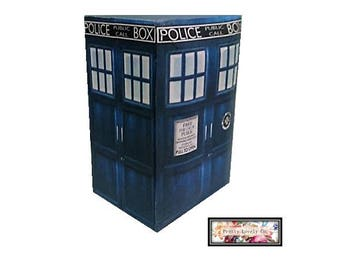 premium dr who inspired the tardis double wedding ring box engagement ring box - Dr Who Wedding Ring