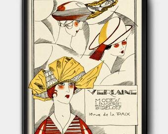 Verlaine ad · 1920s · Instant Download · Fashion · Vintage · Paris · Printable #121