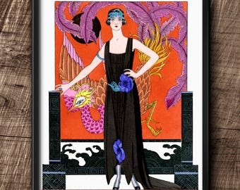 1920s · Instant Download · Art Deco · George Barbier · Dress by Worth · Fashion · Vintage · Printable #127