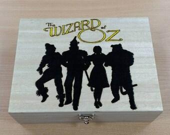 Wizard of Oz   jewellery trinket keepsake box free personalisation.