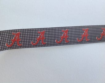 "5/8""  Alabama  inspired Grosgrain Ribbon  -  By The Yard"