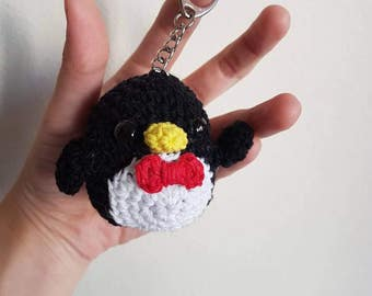 Amigurumi Penguin keychain / zipper charm / bag charm