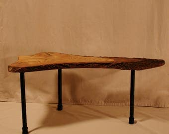 Solid Ash live edge Coffee table/Bench