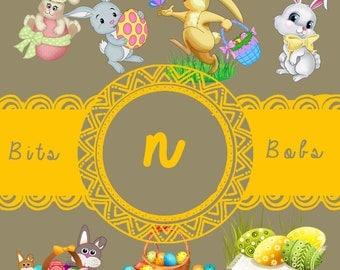 Easter  | clip art | nursery decor | party invitations | birthday invitations | birthday party decor | girl decor | boy decor