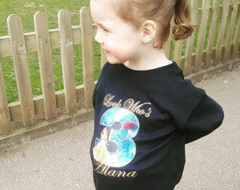 """Personalised """"Look Who's..."""" Princess Belle T Shirt"""