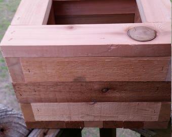 Rustic Cedar planter box