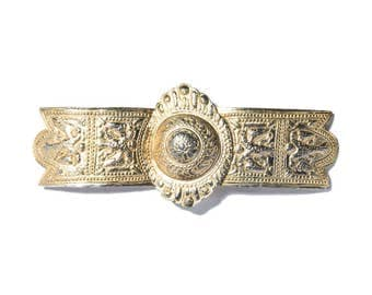 60's Warrior Gold Metal Vintage Belt Buckle