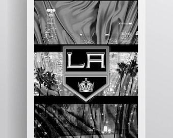Los Angeles Kings Poster, LA Kings Hockey Print, Los Angeles Kings Man Cave Art, LA Kings