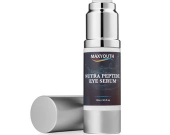 Maxyouth Peptide Eye Serum Eye Gel-For Dark Circles,Puffiness,Wrinkles-The Most Effective Anti Aging Anti Wrinkle Eye Cream!