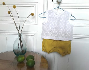 """BLOOMER """"AMO"""" in lin sent in a small linen bag"""