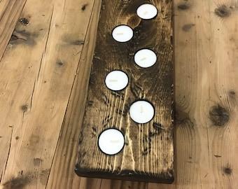 Wooden Tea Light Centerpiece