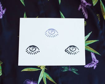 Embossed Third Eye Print