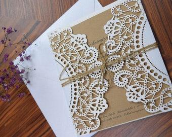 Vintage 'Wedding invitation 'Romance'