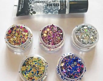 Luna Beam Festival Glitter - Fairground Set 5 Glitters and a Fix Gel