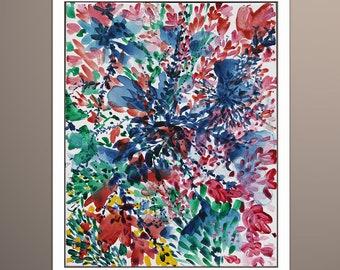 Flower Painting, Floral Original Painting Flowers, Flower Wall Art