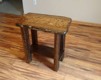 Rustic End Table, Rustic night stand, End table, wood table, Reclaimed Wood Table, Oak Table,