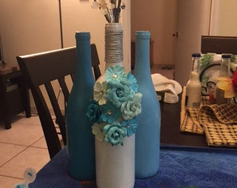 Blue and White Bottle Trio