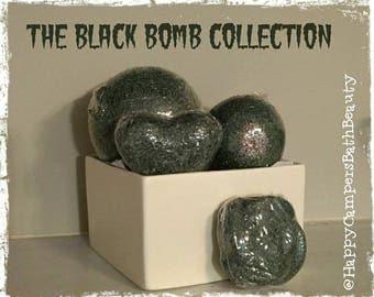 Midnight Bath Bomb - Vegan Bath Bomb - Black Bath Bomb - Bath Bomb - Made Fresh - Ready To Ship