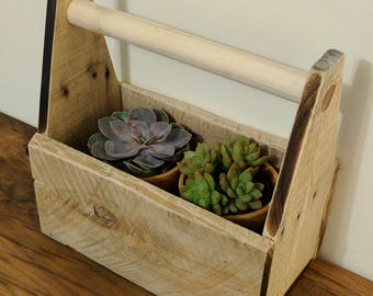 Rustic Tool Caddy, Tool Box, Planter