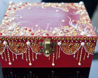 Red Henna Inspired Jewellery Box