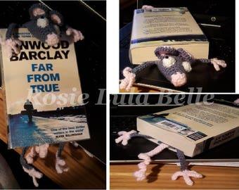 Squished ratty rat bookmark handmade crochet