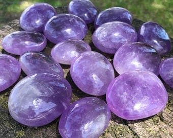 Bright, Beautiful Amethyst Palm Stone