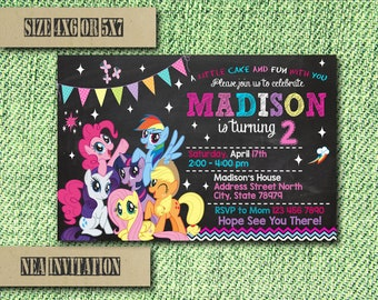 My Little Pony Invitation / My Little Pony Birthday Invitation / Little Pony Birthday / Little Pony Invite / Little Pony Party / Little Pony