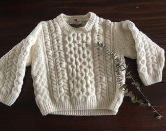 Baby wool sweater // Carriag Donn 100% Merino Wool Sweater // size S // 3-6 months // baby sweater // kids wool sweater