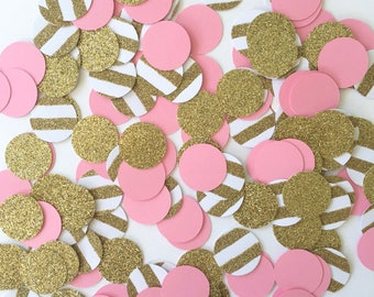 Girl Baby Shower Decorations, Girl Baby Shower Decor, Baby Shower Table Decorations, Pink and Gold Table Confetti, Pink and Gold Confetti