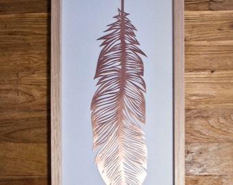 Papercut Feather - Copper
