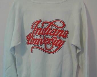 Indiana Hoosiers Vintage Sweatshirt Crewneck Size LARGE