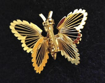 Brooch-- Monet Gold Tone Butterfly