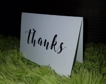 Thanks - Black (set of 10 w/ envelopes)