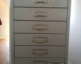 Vintage Industrial file Cabinet with drawers