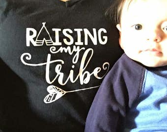 Raising my tribe T-shirt/V-neck