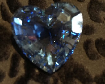 Swarovski blue heart