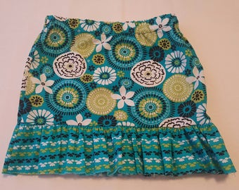 Summer time skirt with ruffles 1T -4T