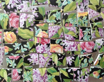 BRoKeN CHiNa MoSAiC TiLeS~~FABuLouS FLoRaLs on BLacK~~ REaLLy LorD NeLsoN