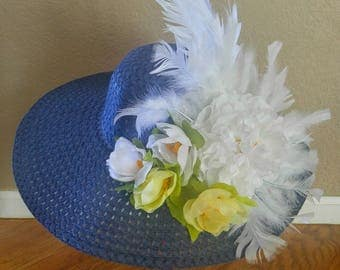 Kentucky Derby Hat, Summer hat, Church hats, Melbourne cup hat, Women's tea party, Wedding hat, Wide brim, Formal hat, Royal Ascott