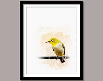 Bird Print, Bird Digital Print, Bird Printable Art, Abstract Print, Bird Printable Poster, Watercolor Art, Instant Download, Bird Wall Decor