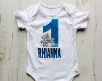 Me To You Bear Babygrow, Tatty Teddy Custom T-Shirt,Birthday Shirt,Blue Nose Friends Personalised Shirt,(Any Age,Any Name)
