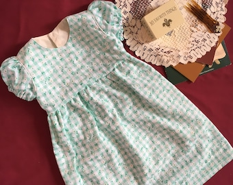 Girls Clothing Girls Spring Summer Dress 4T 4 Short Sleeve Dress Girls Dresses For Girls Little Girls Clothing Toddler Dress 4T Daisy Green