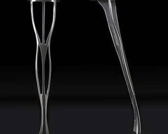 Set of 4 Polished cast Aluminium Table Leg